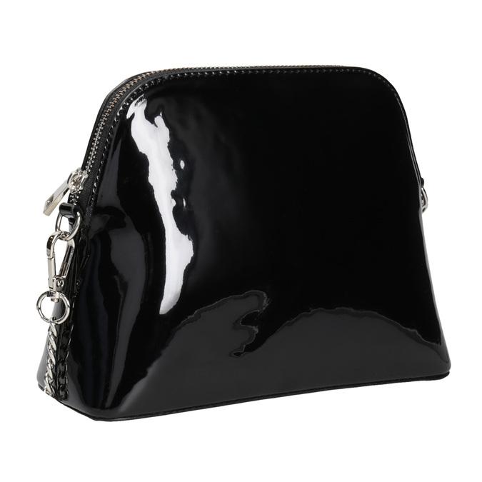 Lakovaná čierna kabelka bata, čierna, 961-6850 - 13