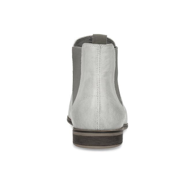 Kožená dámska Chelsea obuv bata, šedá, 596-1684 - 15
