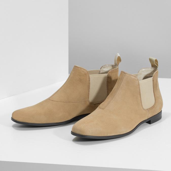 Kožené členkové Chelsea Boots vagabond, hnedá, 513-4098 - 16