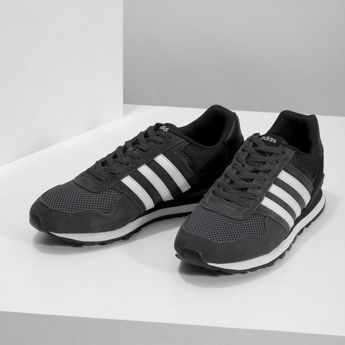 Čierne pánske tenisky z brúsenej kože adidas, čierna, 803-6293 - 16