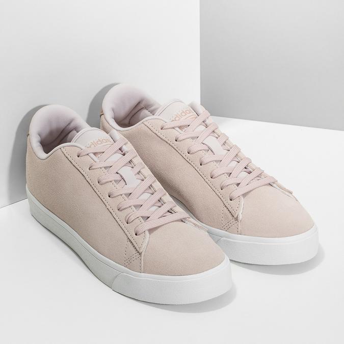Ružové tenisky z brúsenej kože adidas, ružová, 503-2554 - 26