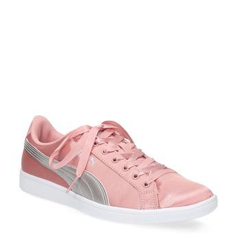 Ružové saténové tenisky s mašľou puma, ružová, 509-5718 - 13