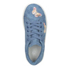 Modré dievčenské tenisky s motýlikmi mini-b, modrá, 321-9618 - 15