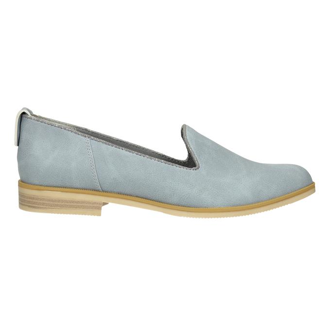 Kožená dámska Loafers obuv bata, modrá, 519-9605 - 26