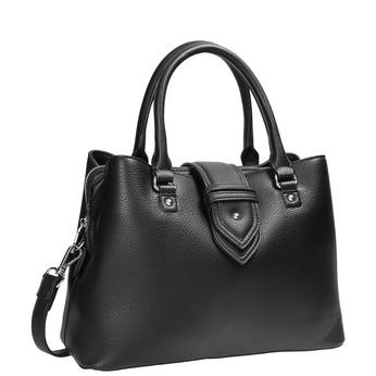 Čierna kabelka s odnímateľným popruhom bata, čierna, 961-6216 - 13