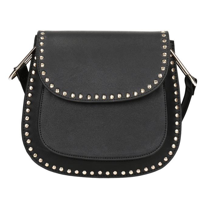 Čierna Crossbody kabelka s cvočkami bata, čierna, 961-6844 - 26