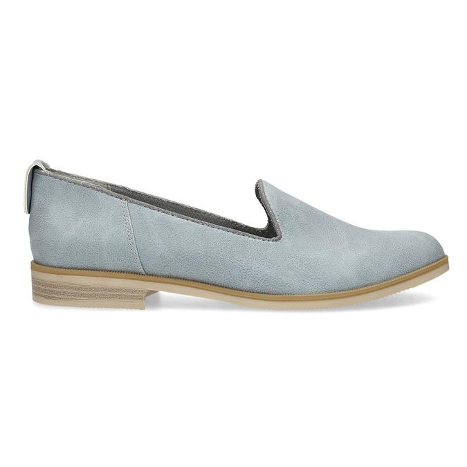 Kožená dámska Loafers obuv bata, modrá, 519-9605 - 19