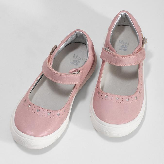 Ružové dievčenské baleríny mini-b, ružová, 221-5216 - 16