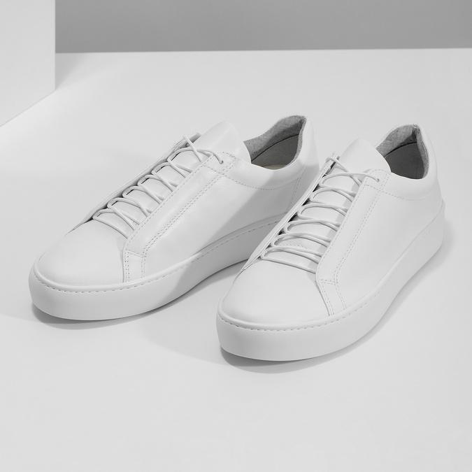 Biele kožené tenisky dámske vagabond, biela, 624-1019 - 16