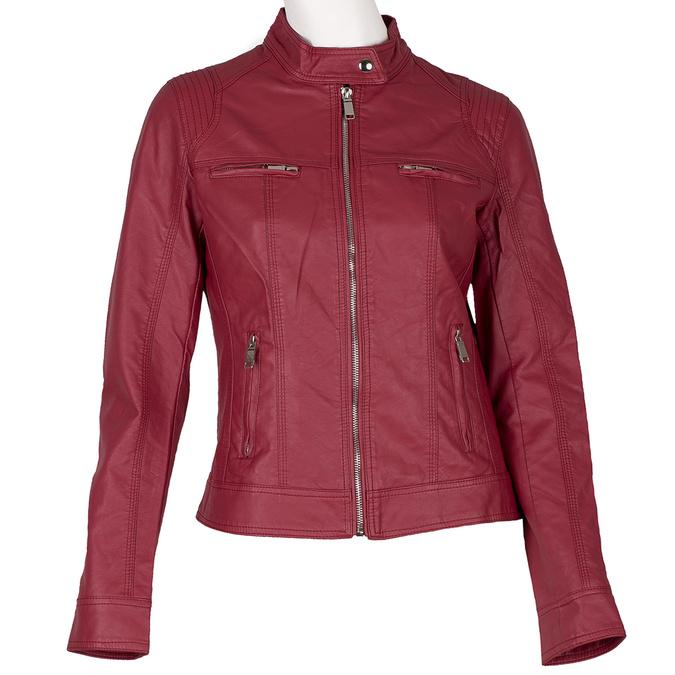 Koženková dámska bunda červená bata, červená, 971-5206 - 13