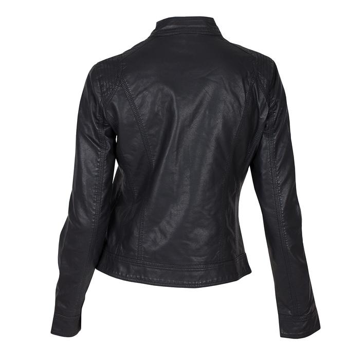 Čierna dámska koženková bunda bata, čierna, 971-6206 - 26