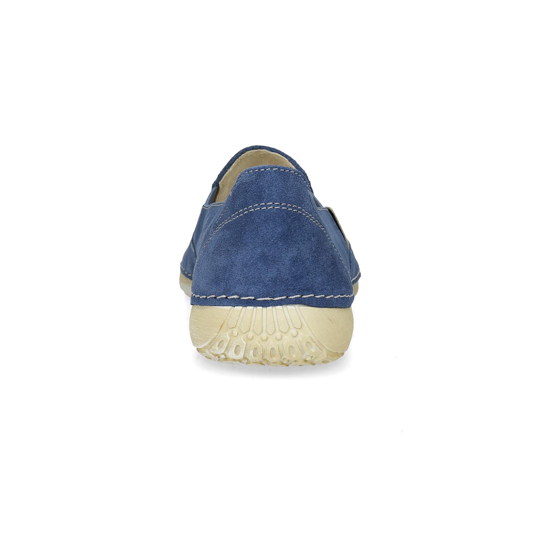 Weinbrenner Dámske modré kožené Slip-on - Česká obuv pre ňu  187b0c4d56a