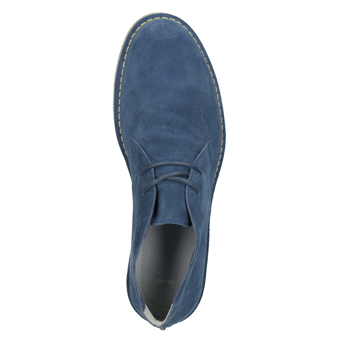 Modré kožené Desert Boots bata, modrá, 823-9622 - 17