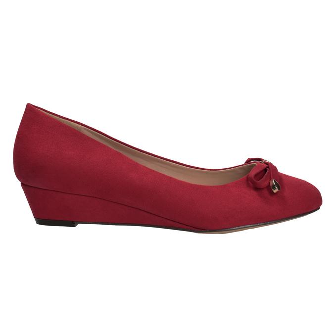 Červené baleríny na kline bata, červená, 629-5633 - 16