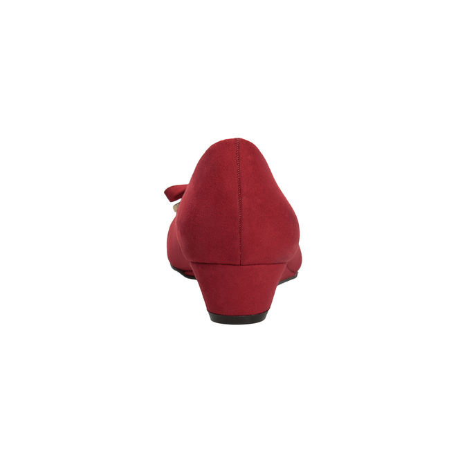 Červené baleríny na kline bata, červená, 629-5633 - 15