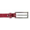 Červený dámsky opasok z kože bata, červená, 954-5204 - 26