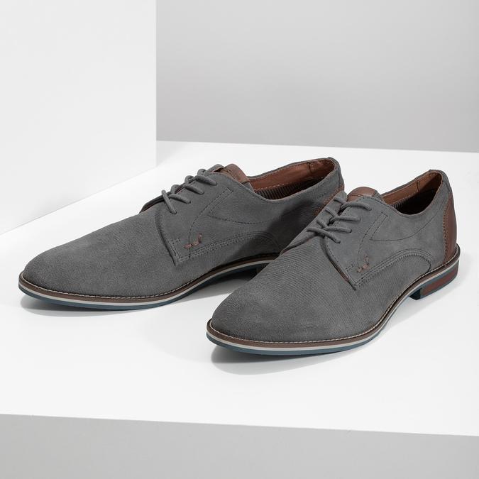 Ležérne kožené poltopánky šedé bata, šedá, 823-2600 - 16