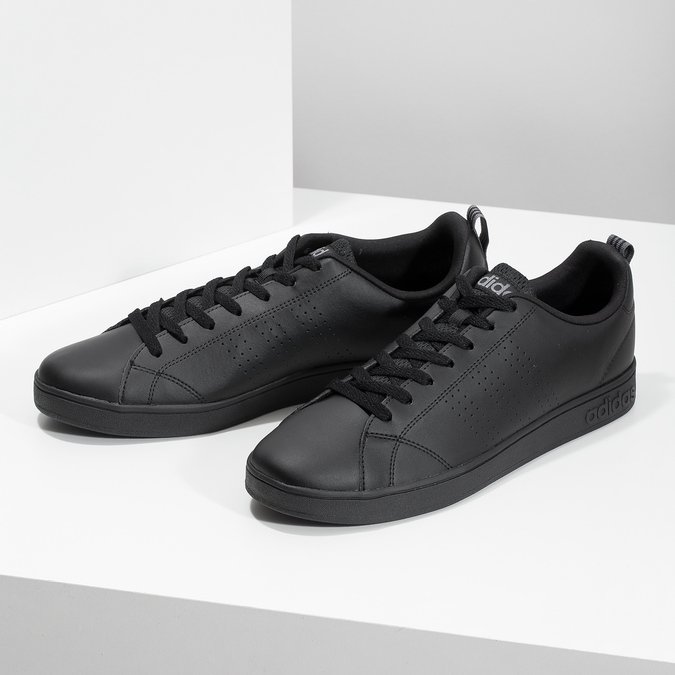 Pánske čierne tenisky adidas, čierna, 801-6144 - 16