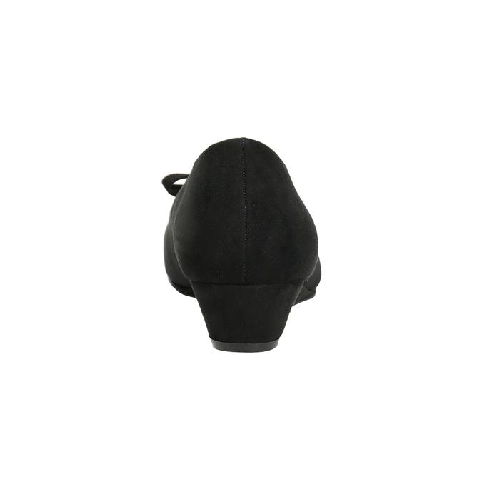Lodičky na kline s mašľou bata, čierna, 629-6633 - 15