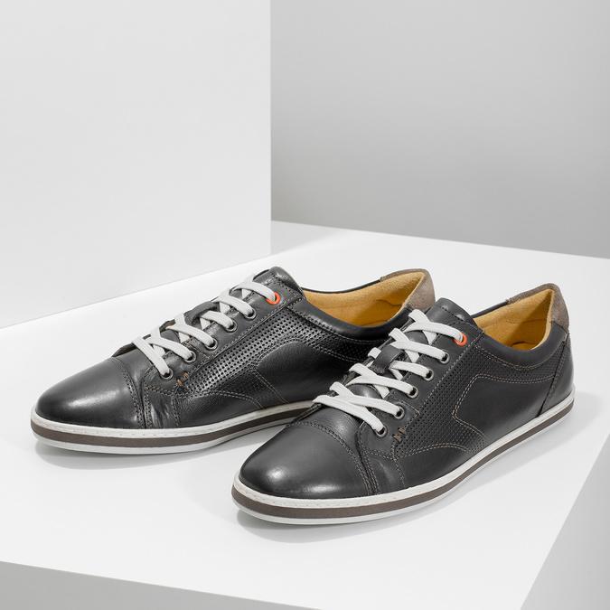 Pánske kožené tenisky bata, čierna, 846-6617 - 16