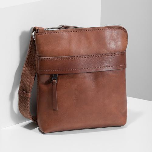 Hnedá kožená Crossbody taška bata, hnedá, 964-4288 - 17