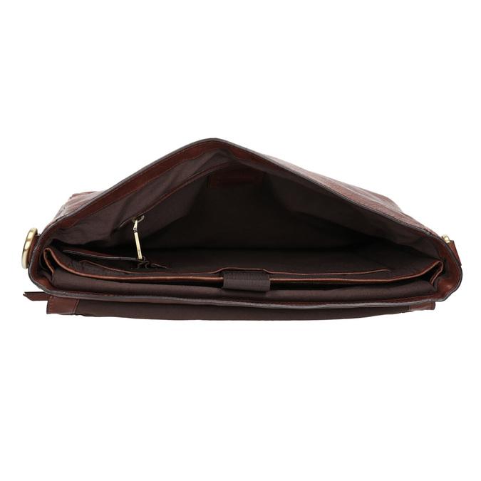 Kožená pánska aktovka bata, hnedá, 964-3285 - 15