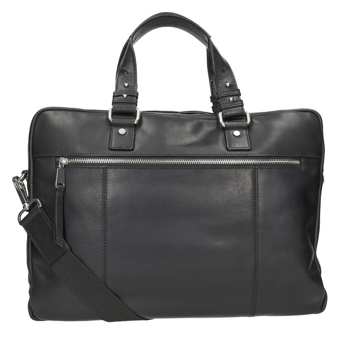 Kožená taška na dokumenty bata, čierna, 964-6287 - 16