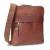 Hnedá kožená Crossbody taška bata, hnedá, 964-4288 - 13