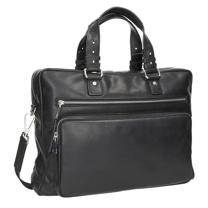 Kožená taška na dokumenty bata, čierna, 964-6287 - 13