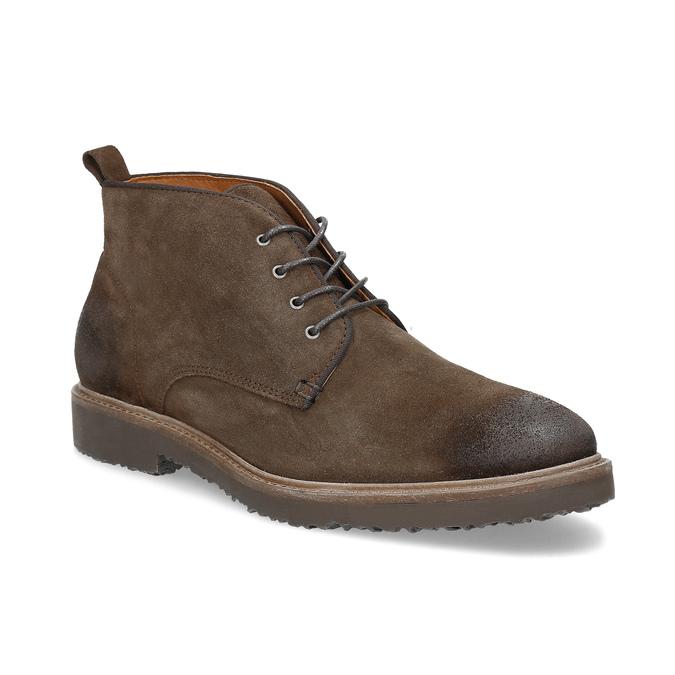 Kožená obuv v štýle Chukka Boots bata, hnedá, 823-4627 - 13