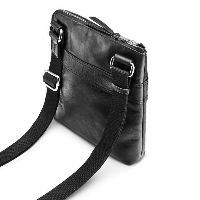 Čierna kožená Crossbody taška bata, čierna, 964-6288 - 17
