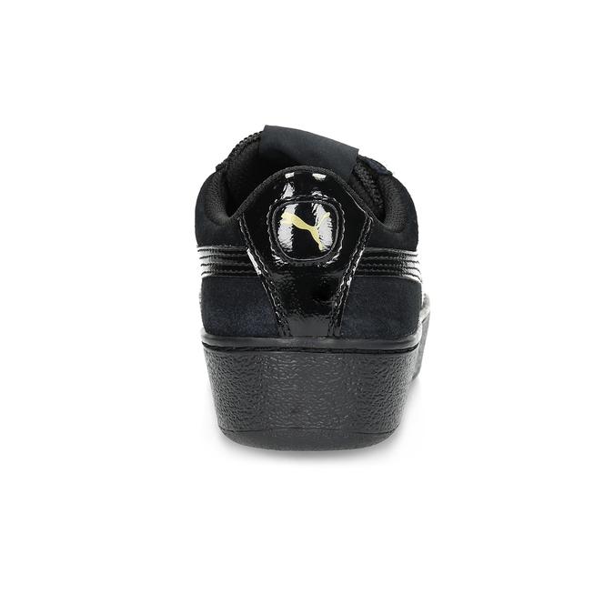 Dámske tenisky z brúsenej kože puma, čierna, 503-6923 - 15