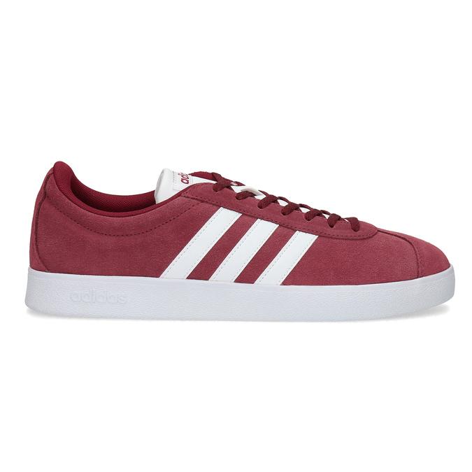 Červené pánske tenisky z brúsenej kože adidas, červená, 803-5379 - 19