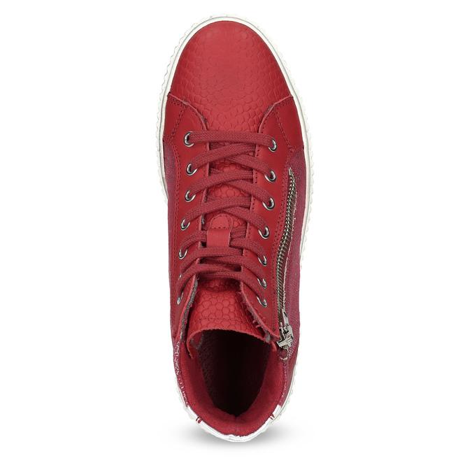 Kožené členkové tenisky červené bata, červená, 596-5692 - 17