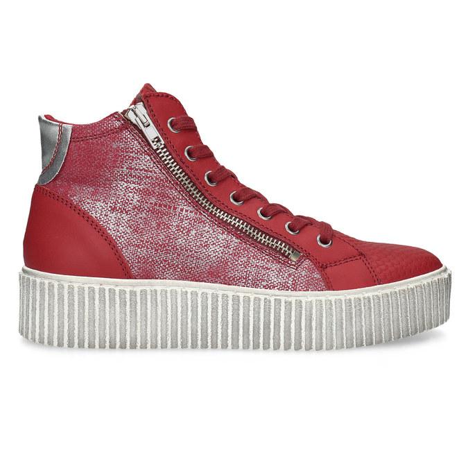 Kožené členkové tenisky červené bata, červená, 596-5692 - 19