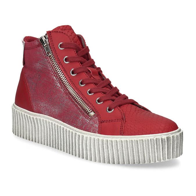 Kožené členkové tenisky červené bata, červená, 596-5692 - 13