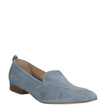 Ležérne mokasíny z brúsenej kože bata, modrá, 516-9618 - 13