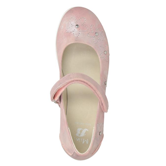 Dievčenské ružové baleríny s cvočkami mini-b, ružová, 321-5615 - 15