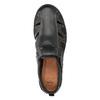 Pánske kožené sandále s prešitím comfit, čierna, 856-6605 - 17