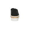 Čierne poltopánky s výraznou perforáciou bata, čierna, 529-6636 - 15