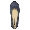Ležérne kožené baleríny s perforáciou weinbrenner, modrá, 546-9614 - 17