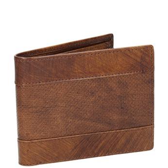 Pánska kožená peňaženka s perforáciou bata, hnedá, 944-3192 - 13