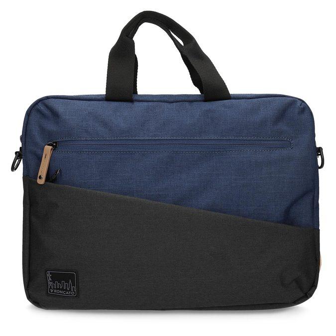 Čierno-modrá taška na notebook roncato, modrá, 969-9698 - 26