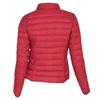 Červená prešívaná bunda s golierom bata, červená, 979-5182 - 26