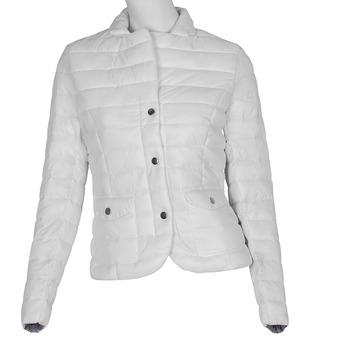 Biela prešívaná bunda s golierom bata, biela, 979-1182 - 13