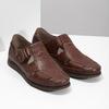Kožené sandále na suchý zips fluchos, hnedá, 864-4605 - 26