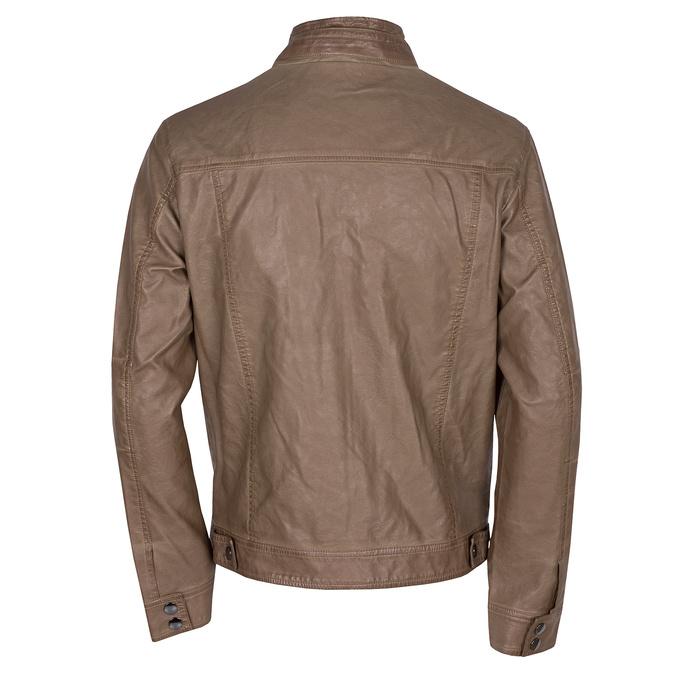 Hnedá pánska bunda z koženky bata, hnedá, 971-3194 - 26