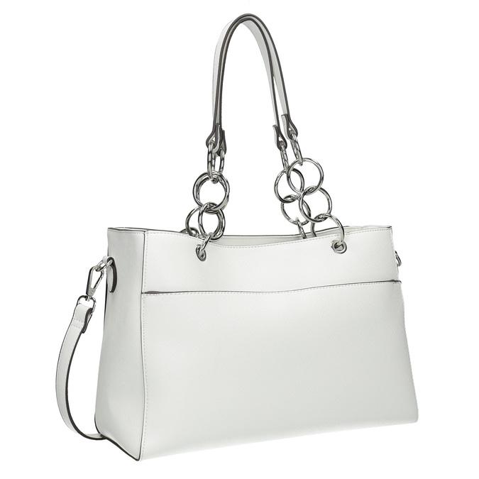 Biela kabelka s retiazkou bata, biela, 961-1343 - 13