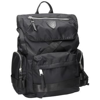 Čierny pánsky batoh z textilu atletico, čierna, 969-6677 - 13