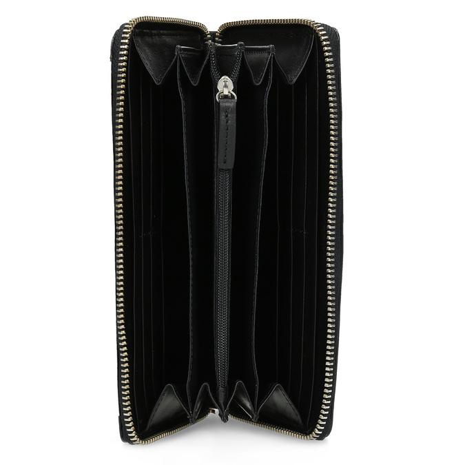 Čierna dámska kožená peňaženka gabor-bags, čierna, 946-6003 - 15